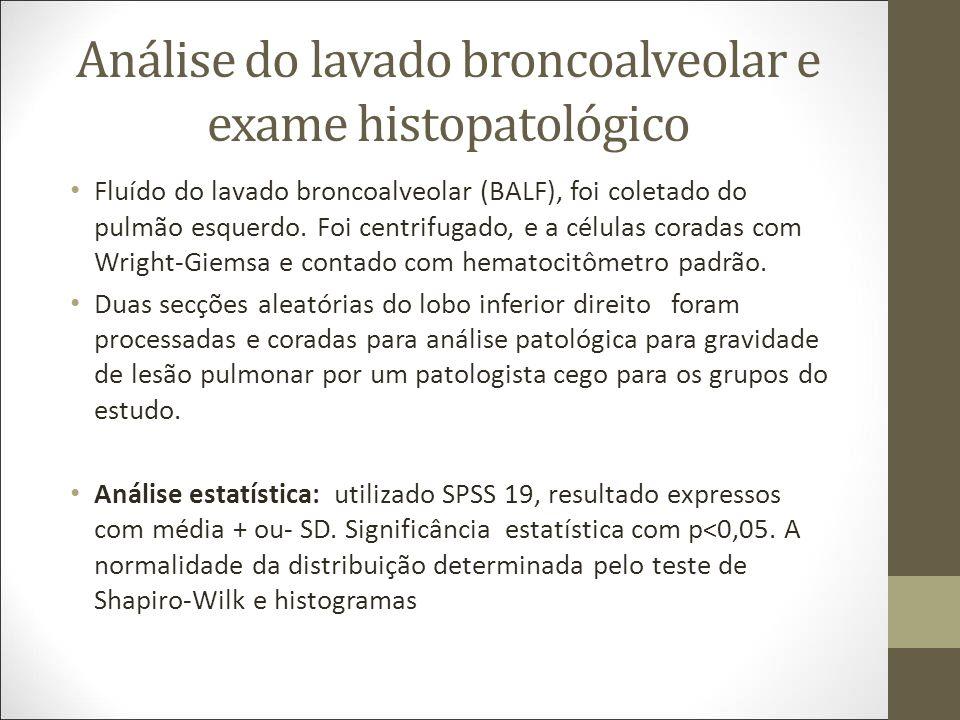 Análise do lavado broncoalveolar e exame histopatológico