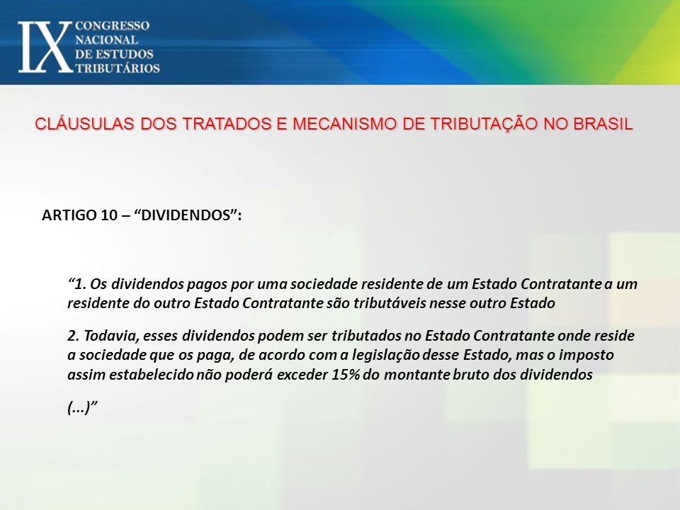 CLÁUSULAS DOS TRATADOS E MECANISMO DE TRIBUTAÇÃO NO BRASIL