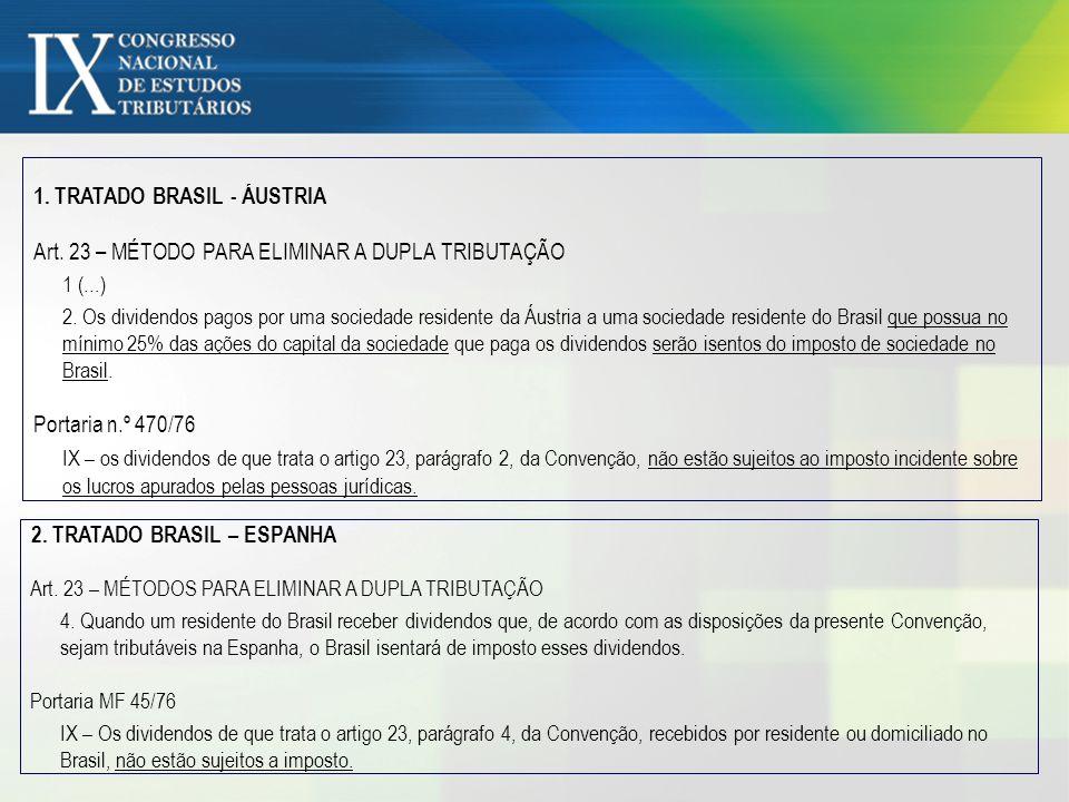 1. TRATADO BRASIL - ÁUSTRIA