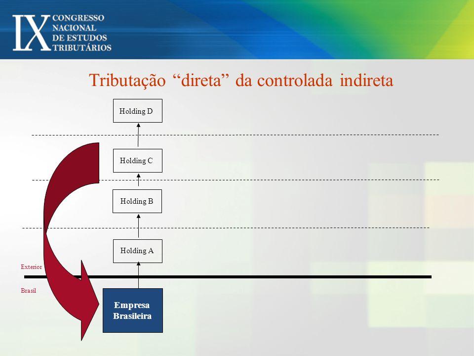 Tributação direta da controlada indireta
