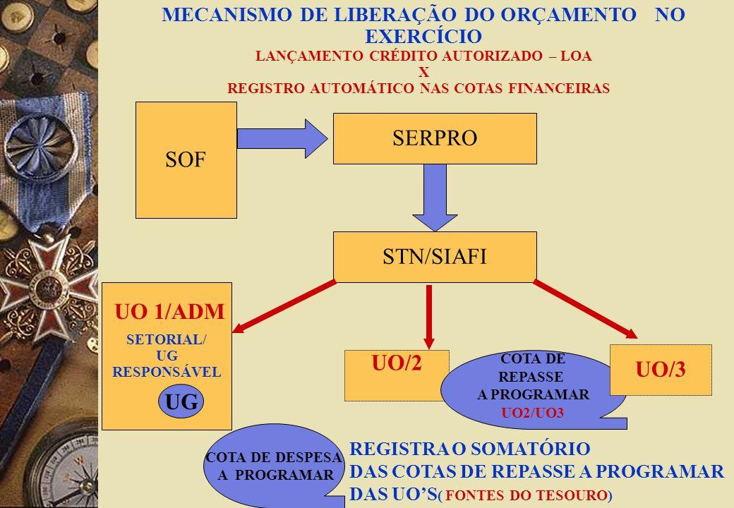 SERPRO SOF STN/SIAFI UO 1/ADM UO/2 UO/3 UG