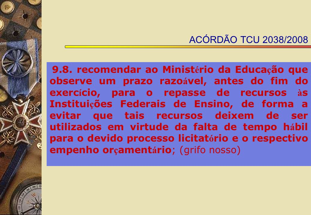 ACÓRDÃO TCU 2038/2008