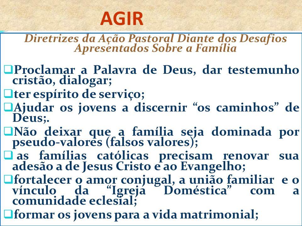 AGIR Proclamar a Palavra de Deus, dar testemunho cristão, dialogar;