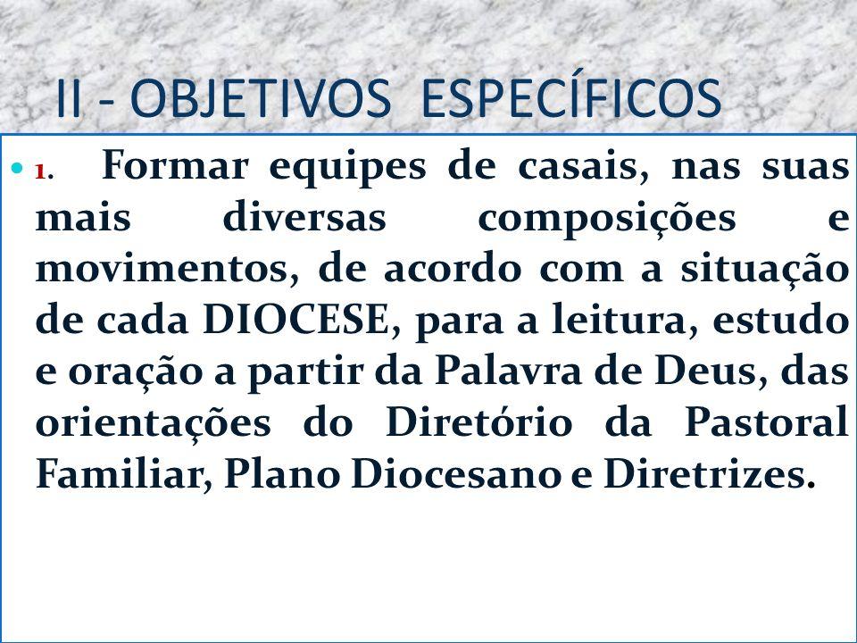 II - OBJETIVOS ESPECÍFICOS