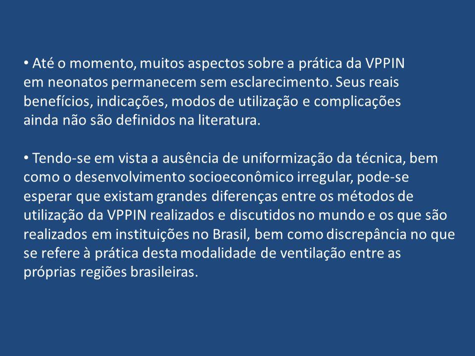 Até o momento, muitos aspectos sobre a prática da VPPIN