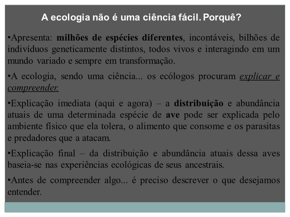 A ecologia não é uma ciência fácil. Porquê