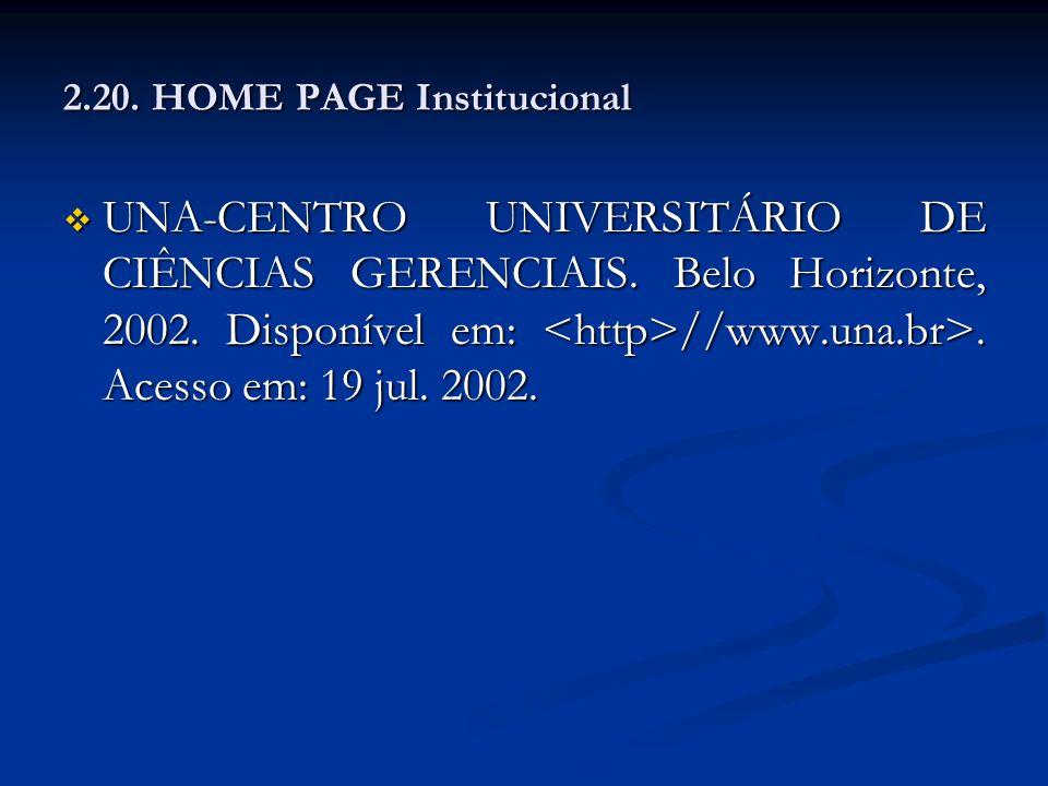2.20. HOME PAGE Institucional