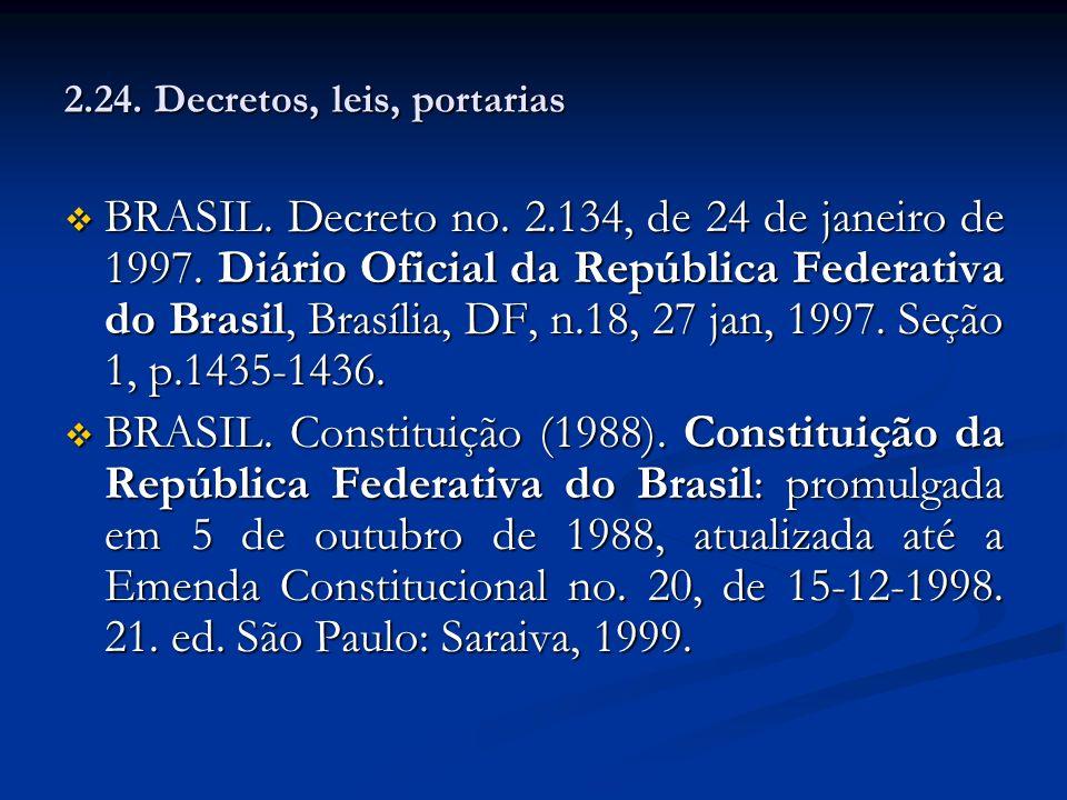 2.24. Decretos, leis, portarias