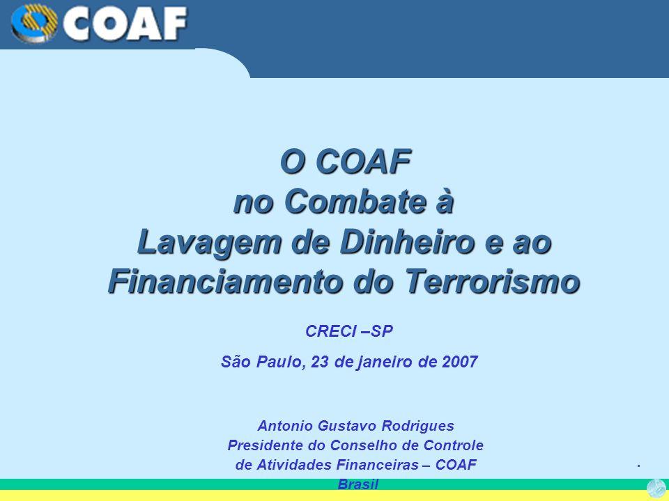 O COAF no Combate à Lavagem de Dinheiro e ao Financiamento do Terrorismo
