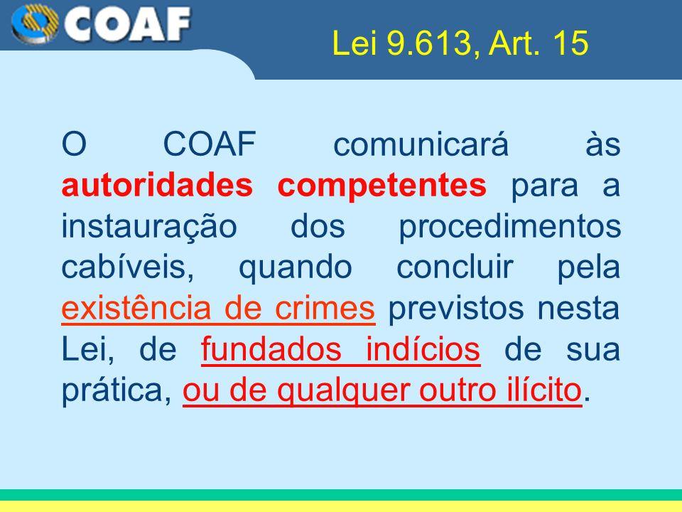 Lei 9.613, Art. 15
