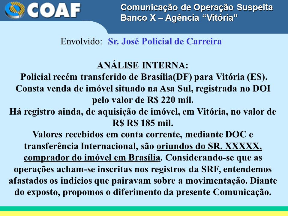 Envolvido: Sr. José Policial de Carreira