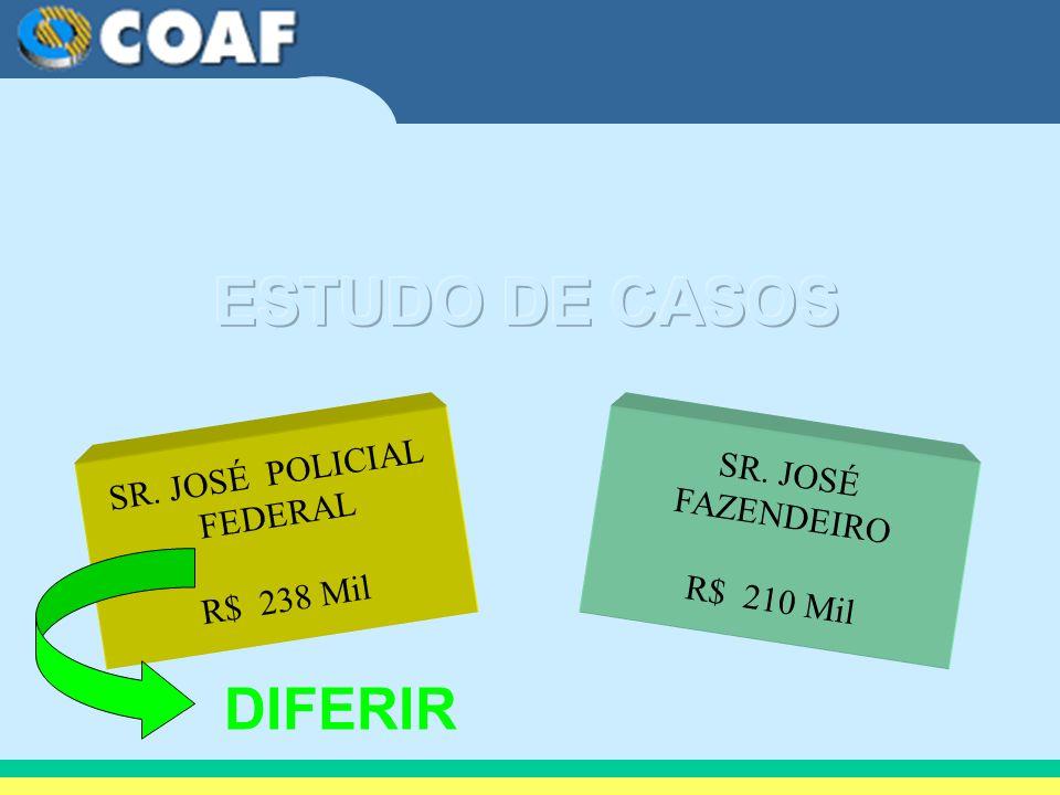ESTUDO DE CASOS DIFERIR SR. JOSÉ POLICIAL FEDERAL R$ 238 Mil