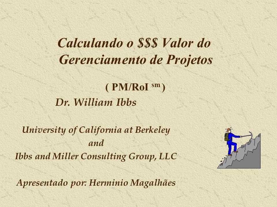 Calculando o $$$ Valor do Gerenciamento de Projetos ( PM/RoI sm )