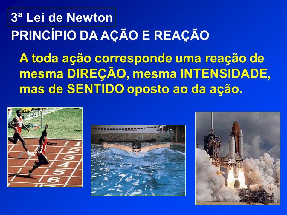 3ª Lei de Newton PRINCÍPIO DA AÇÃO E REAÇÃO.