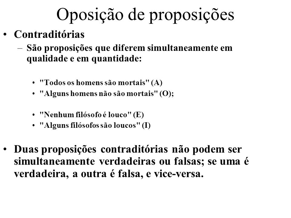 Oposição de proposições