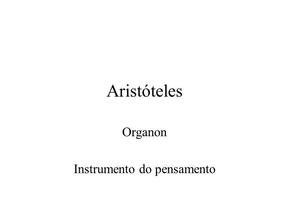 Organon Instrumento do pensamento