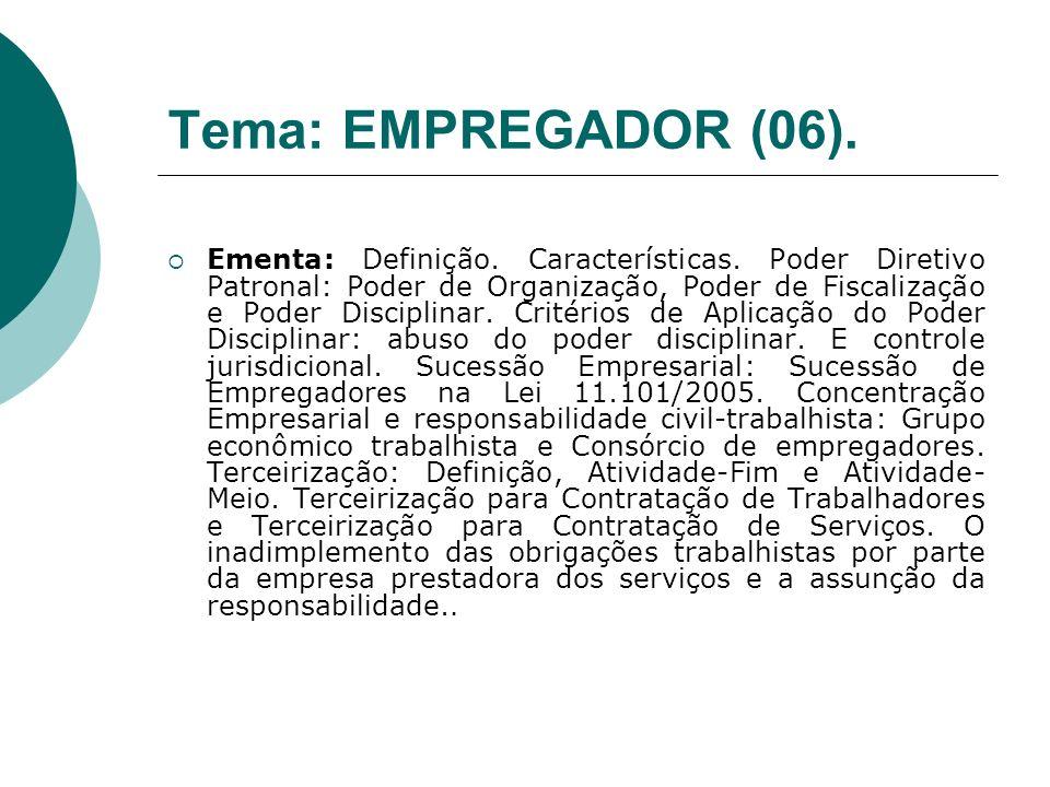 Tema: EMPREGADOR (06).