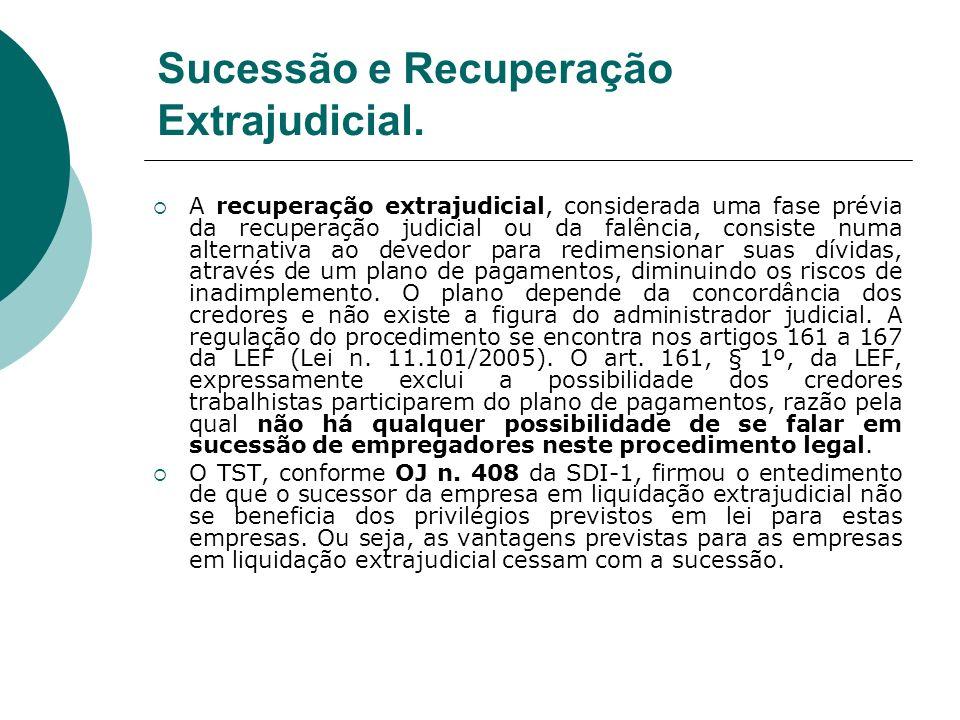 Sucessão e Recuperação Extrajudicial.