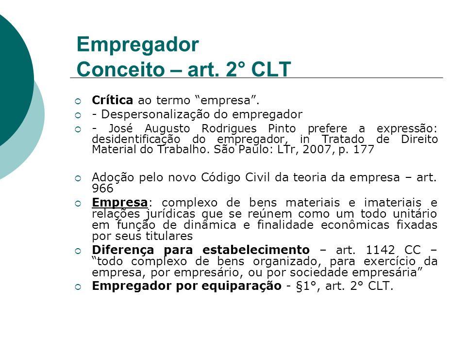 Empregador Conceito – art. 2° CLT