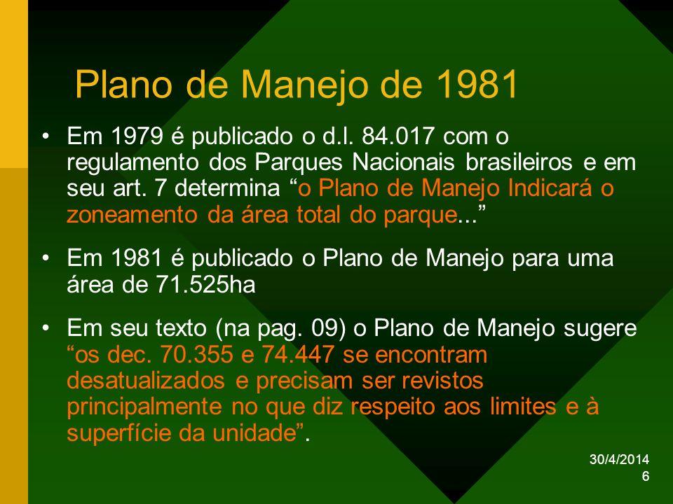 Plano de Manejo de 1981