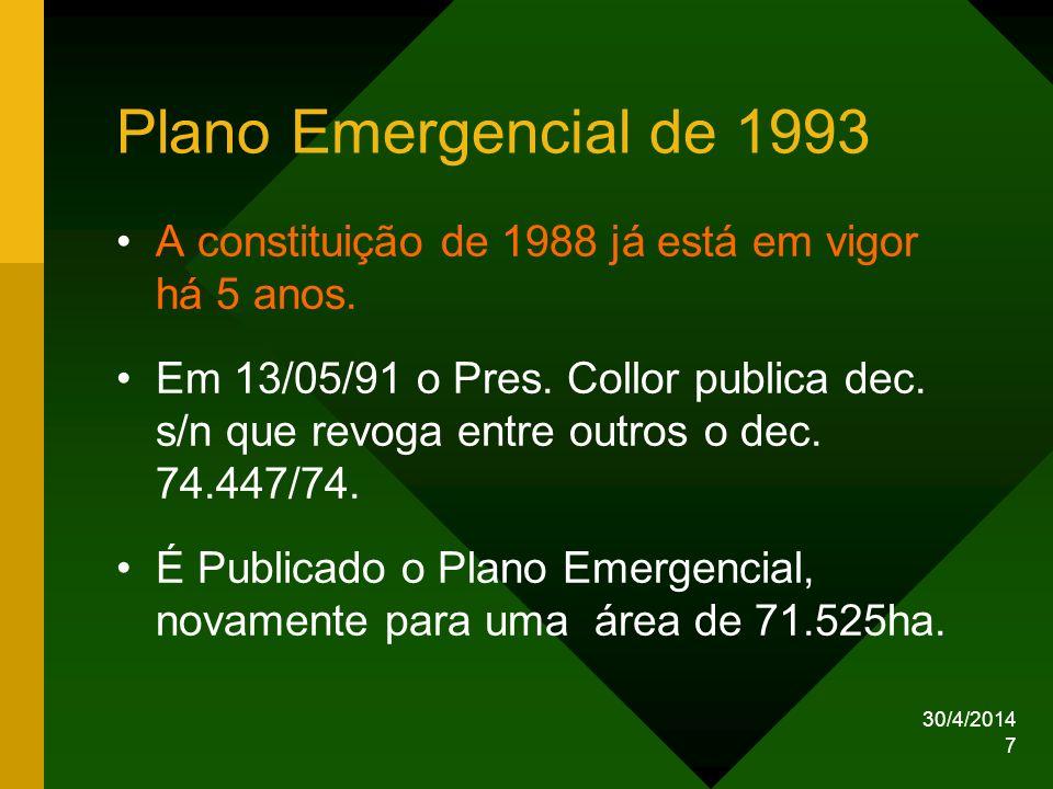 Plano Emergencial de 1993 A constituição de 1988 já está em vigor há 5 anos.