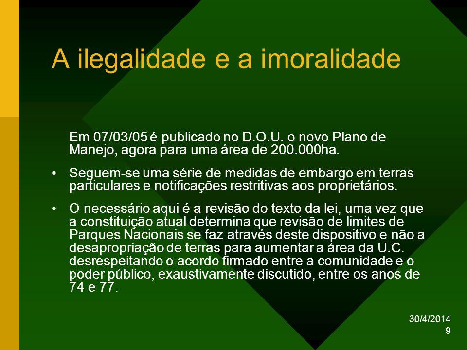 A ilegalidade e a imoralidade
