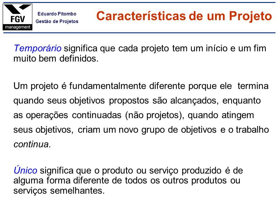 Características de um Projeto