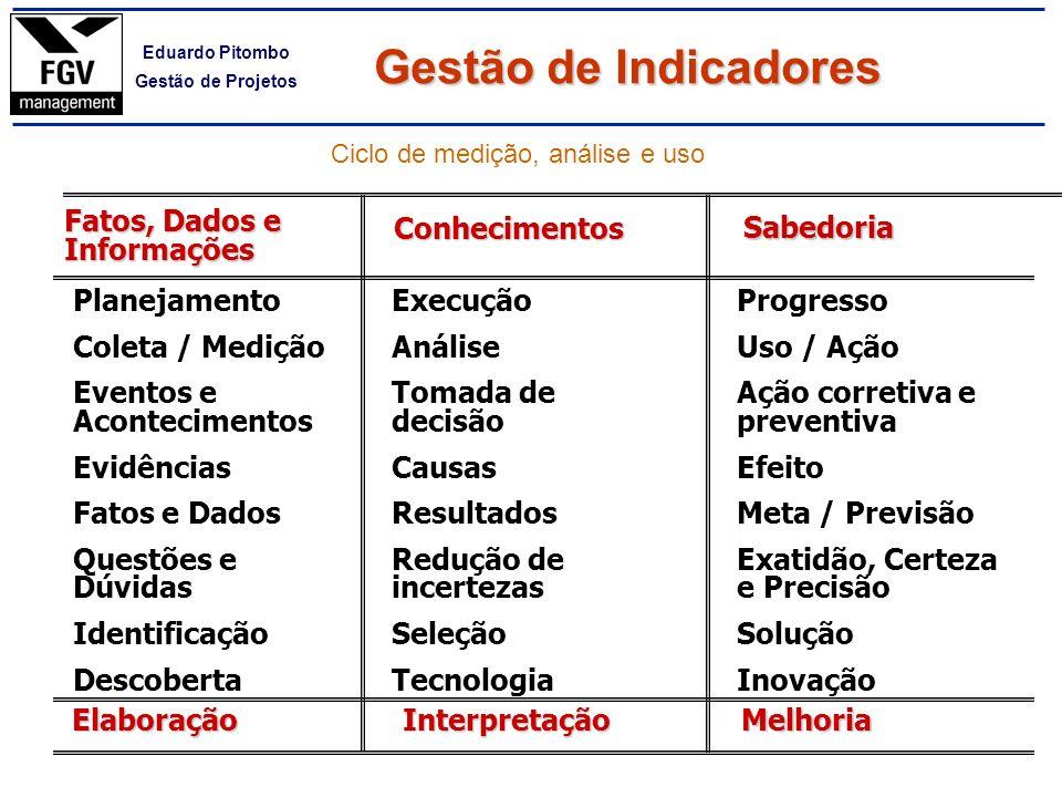 Ciclo de medição, análise e uso