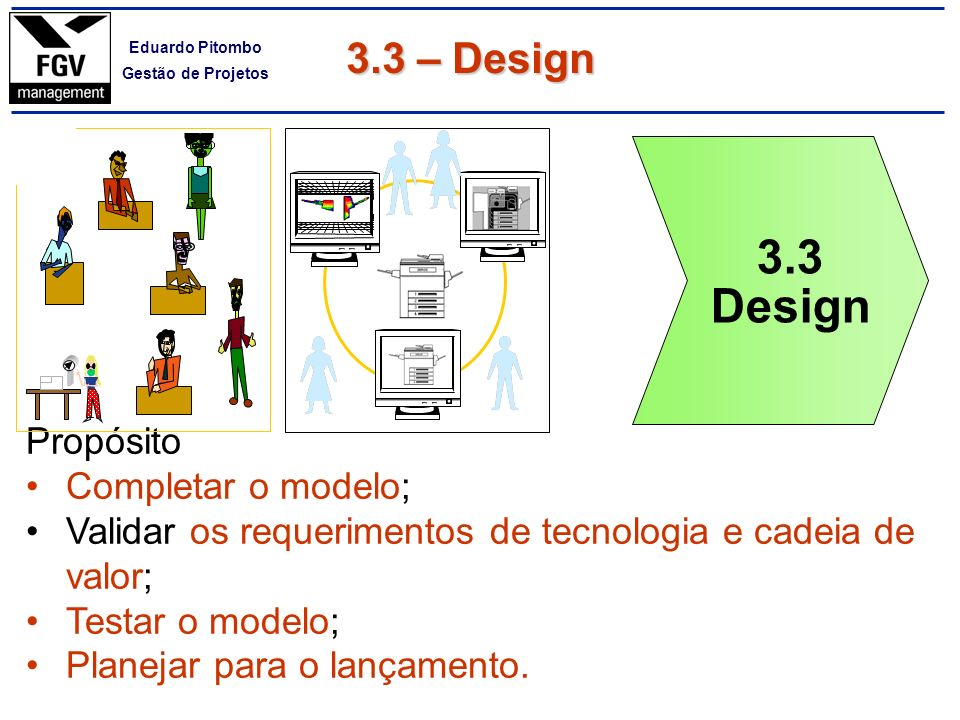 3.3 Design 3.3 – Design Propósito Completar o modelo;