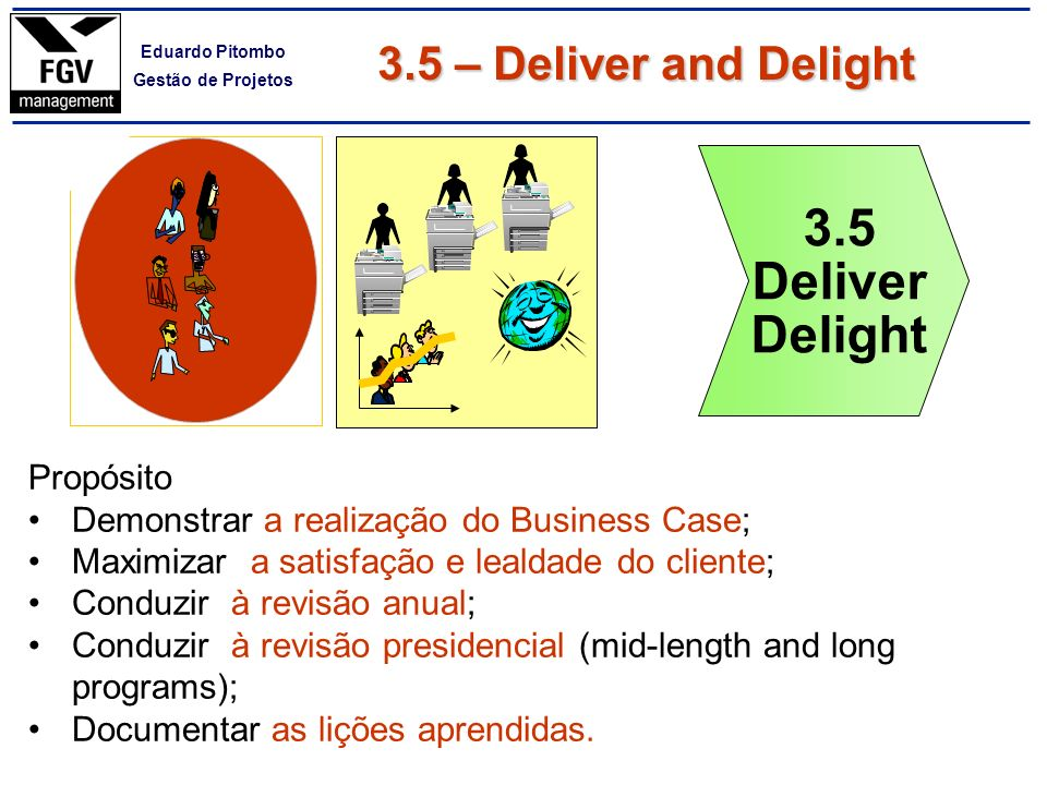 3.5 Deliver Delight 7 3.5 – Deliver and Delight Propósito
