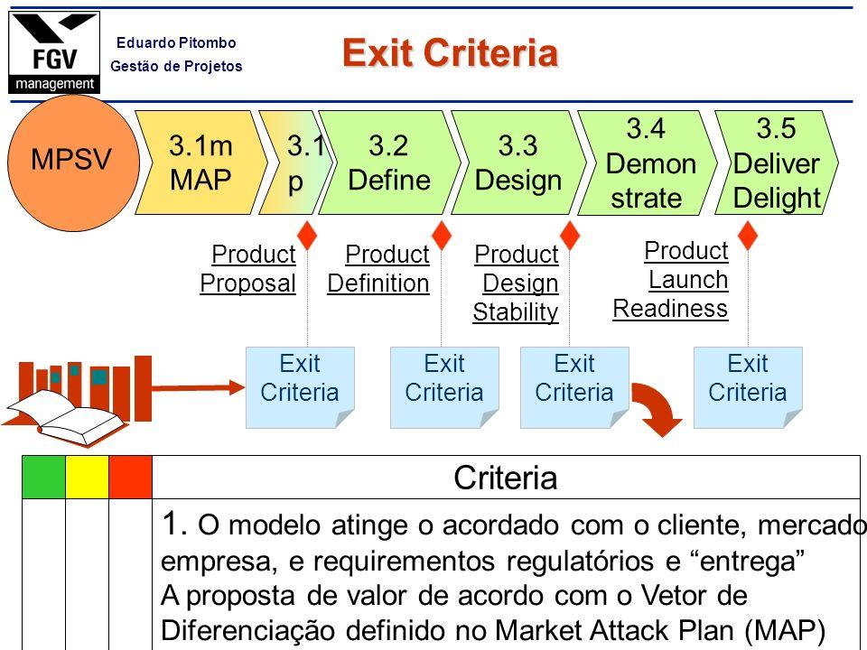 Exit Criteria Criteria
