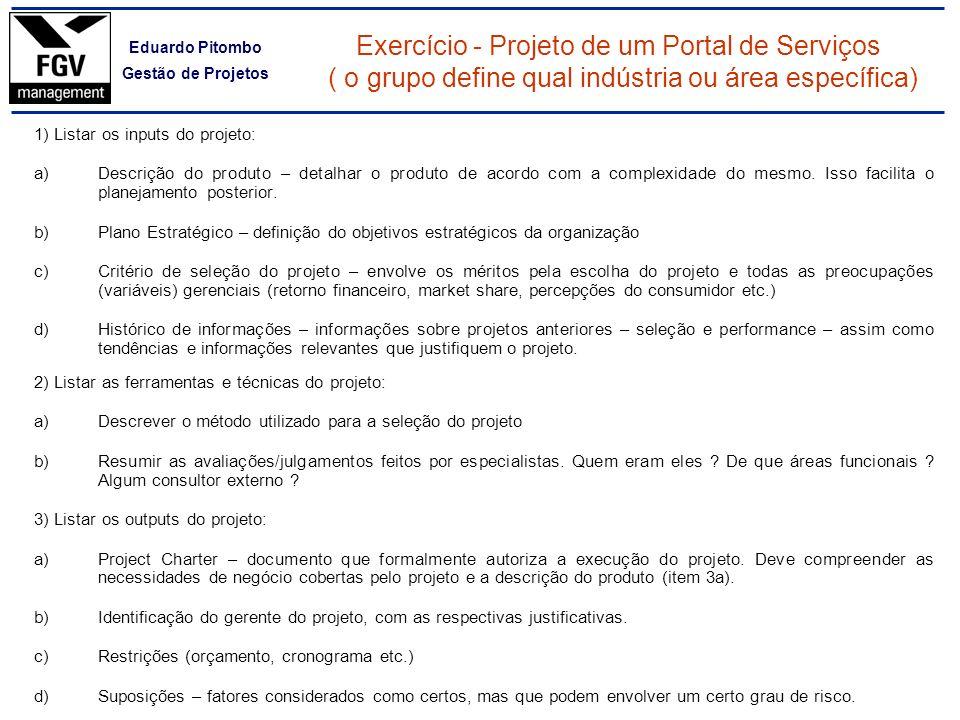 Exercício - Projeto de um Portal de Serviços