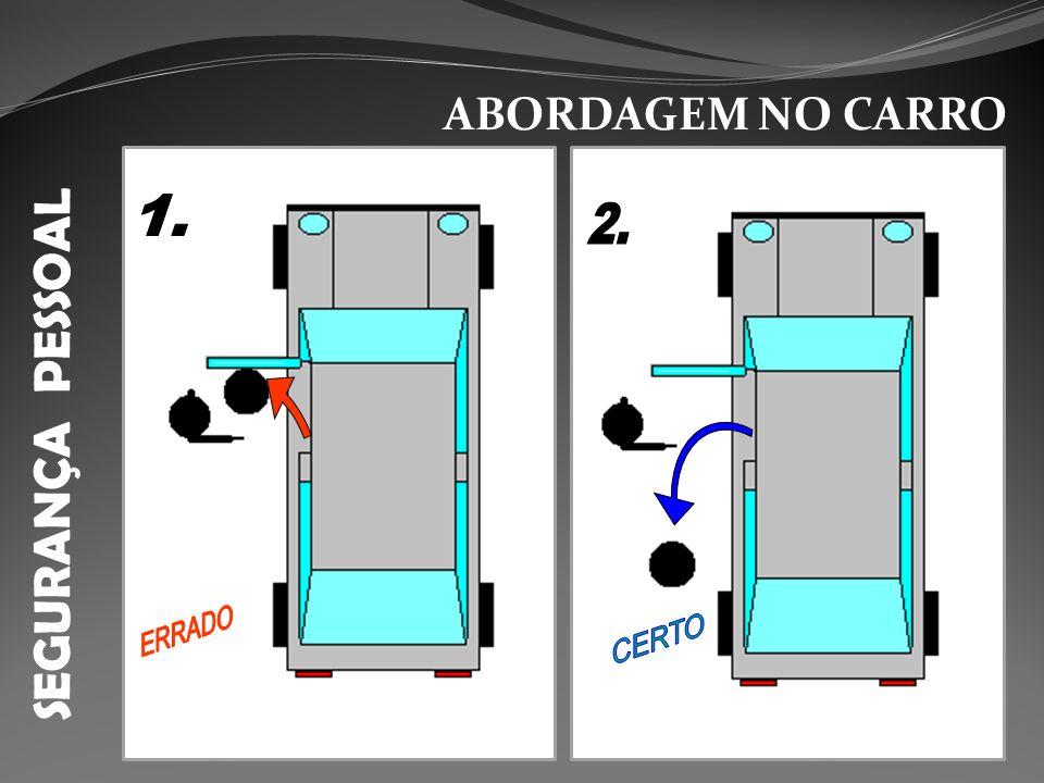 ABORDAGEM NO CARRO SEGURANÇA PESSOAL 1. 2. ERRADO CERTO
