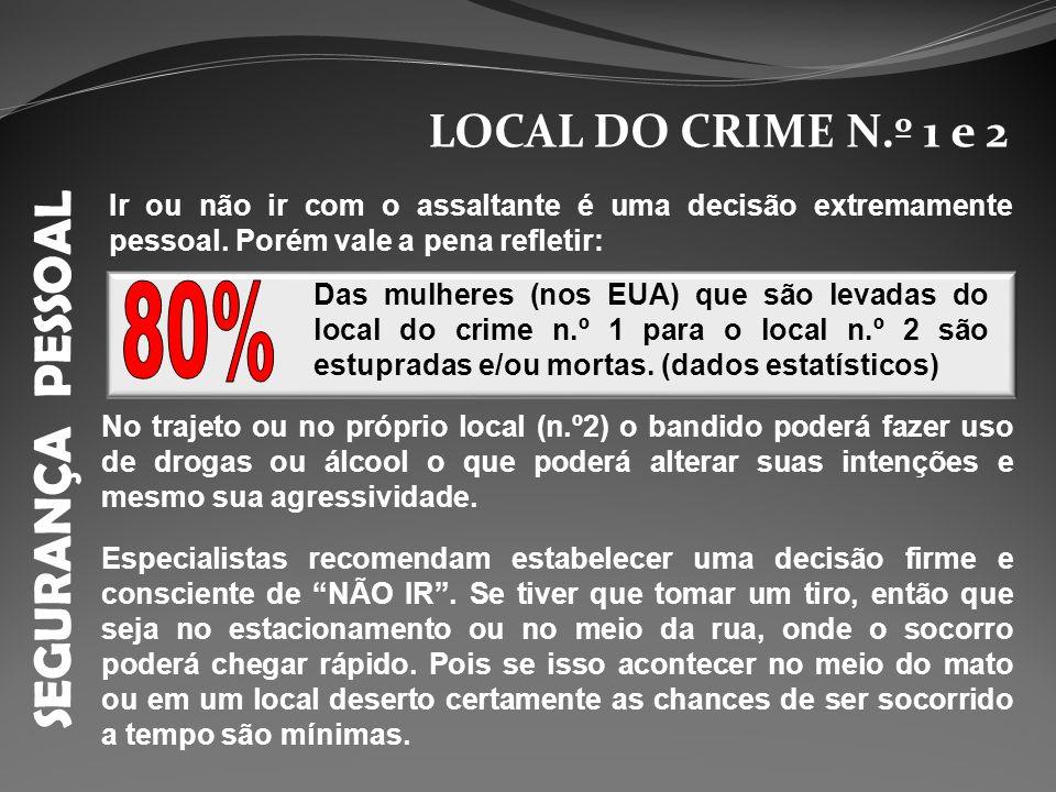 SEGURANÇA PESSOAL 80% LOCAL DO CRIME N.º 1 e 2