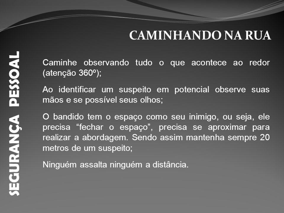 SEGURANÇA PESSOAL CAMINHANDO NA RUA