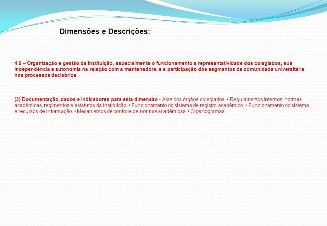 Dimensões e Descrições: