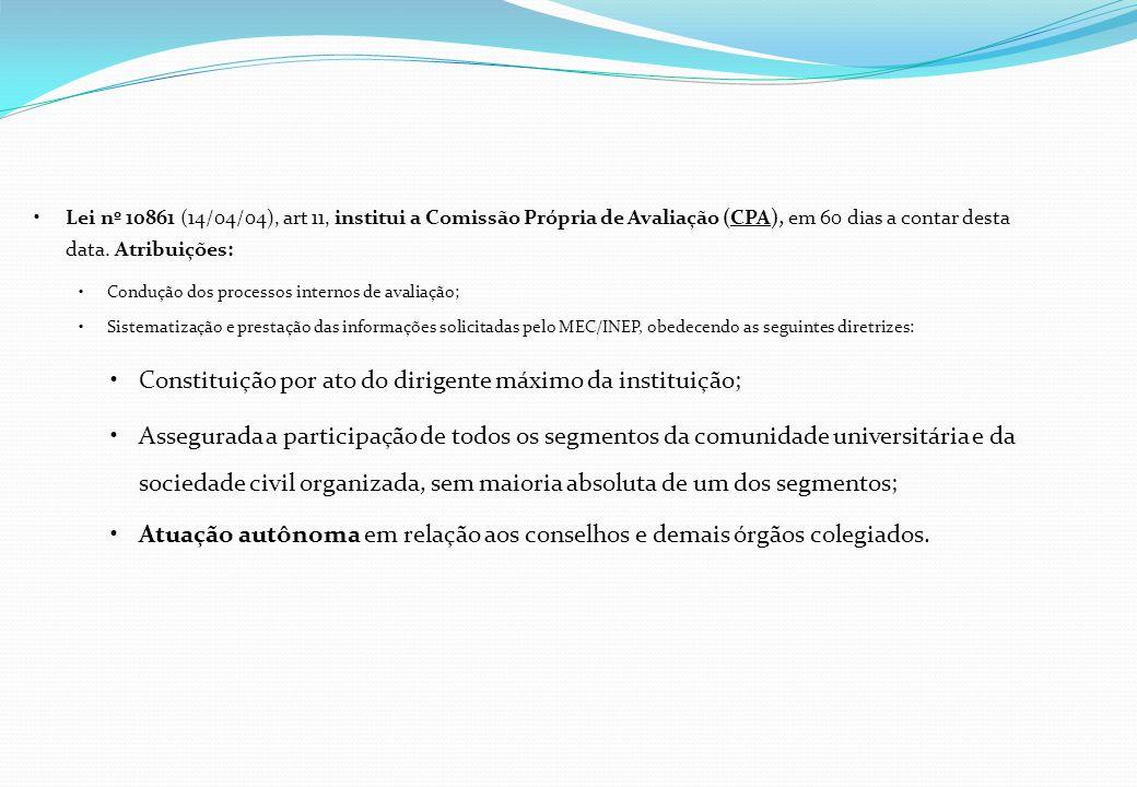 Constituição por ato do dirigente máximo da instituição;