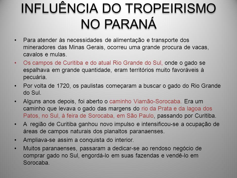 INFLUÊNCIA DO TROPEIRISMO NO PARANÁ