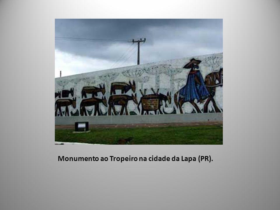 Monumento ao Tropeiro na cidade da Lapa (PR).