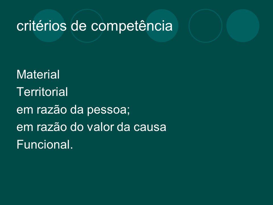 critérios de competência