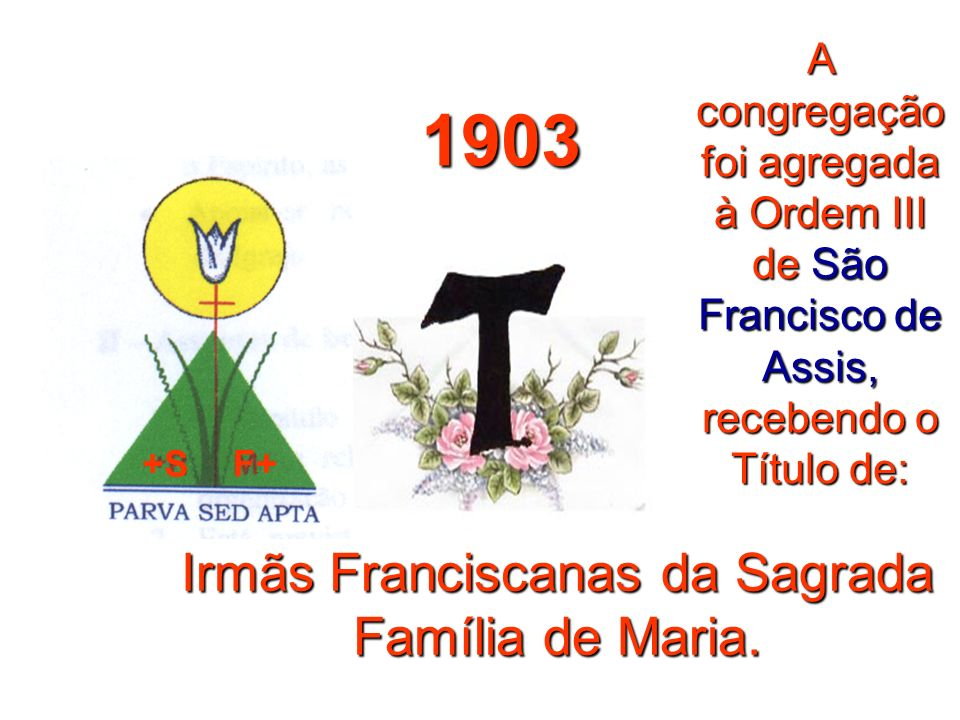 Irmãs Franciscanas da Sagrada Família de Maria.