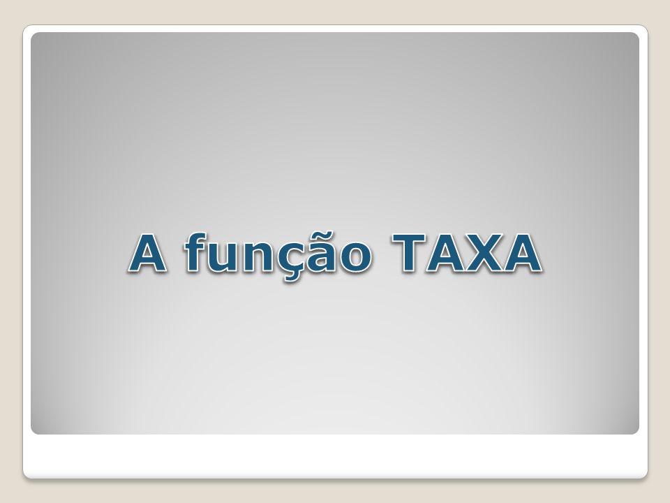 A função TAXA