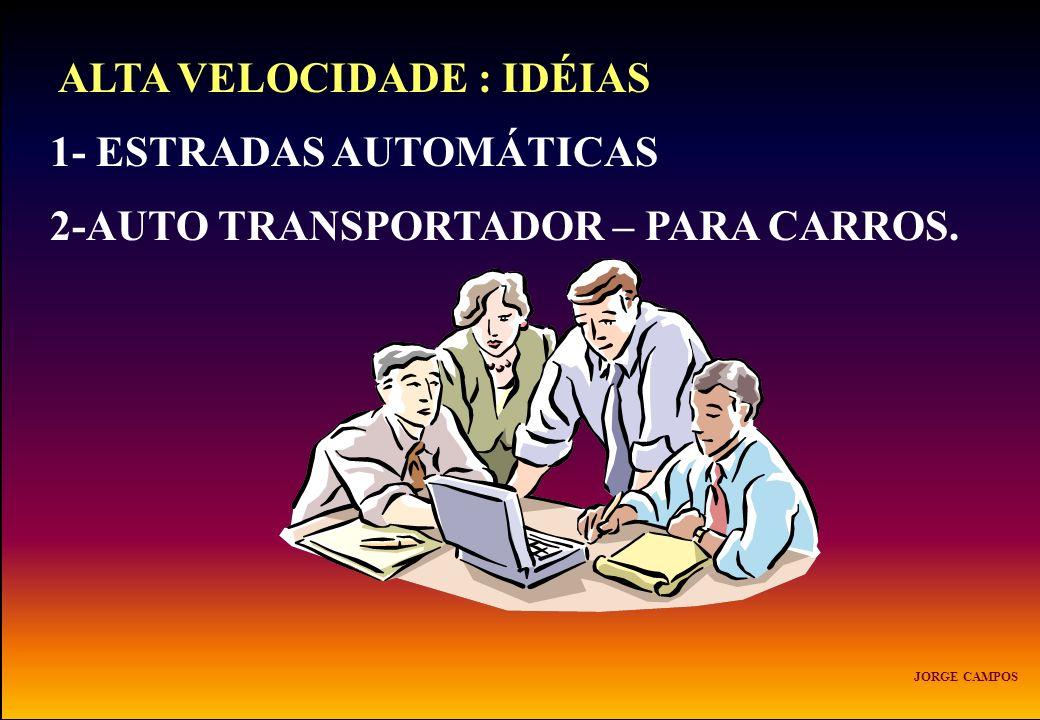 ALTA VELOCIDADE : IDÉIAS 1- ESTRADAS AUTOMÁTICAS