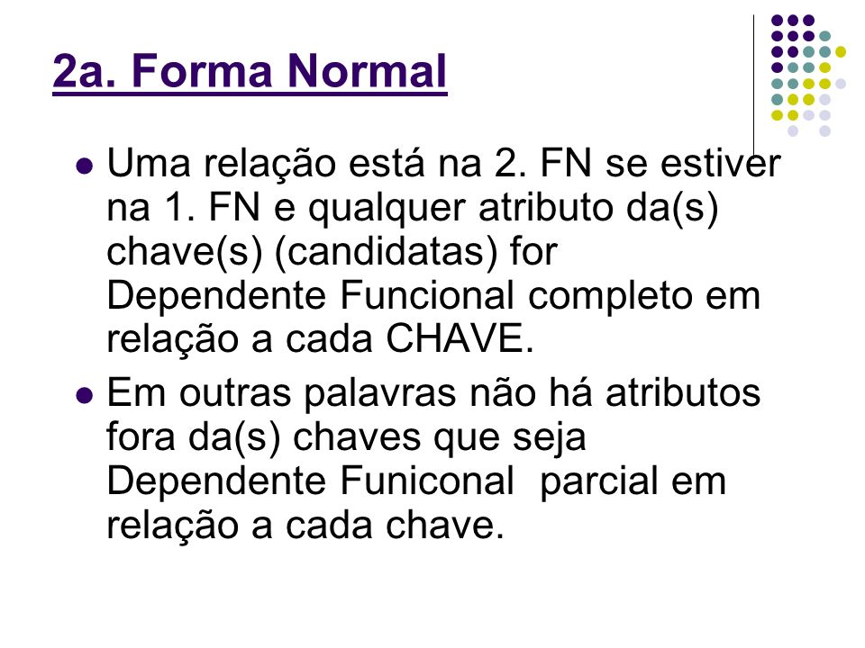 2a. Forma Normal