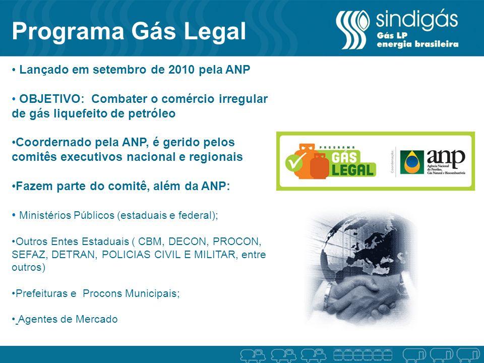 Programa Gás Legal Lançado em setembro de 2010 pela ANP