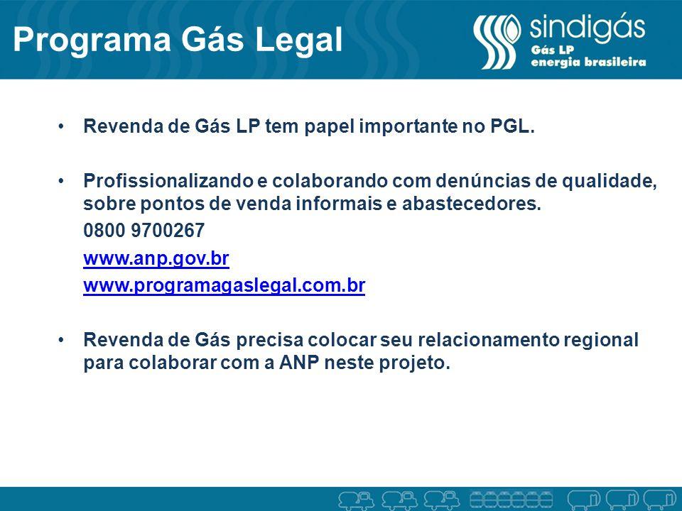 Programa Gás Legal Revenda de Gás LP tem papel importante no PGL.