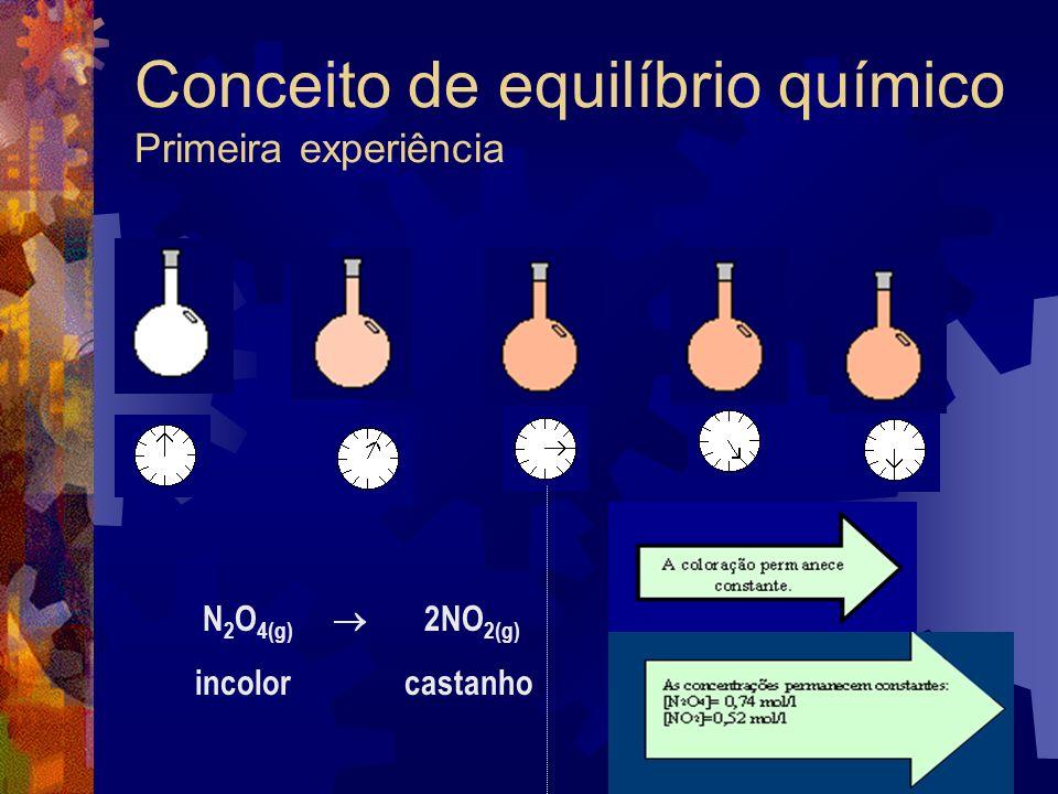 Conceito de equilíbrio químico Primeira experiência