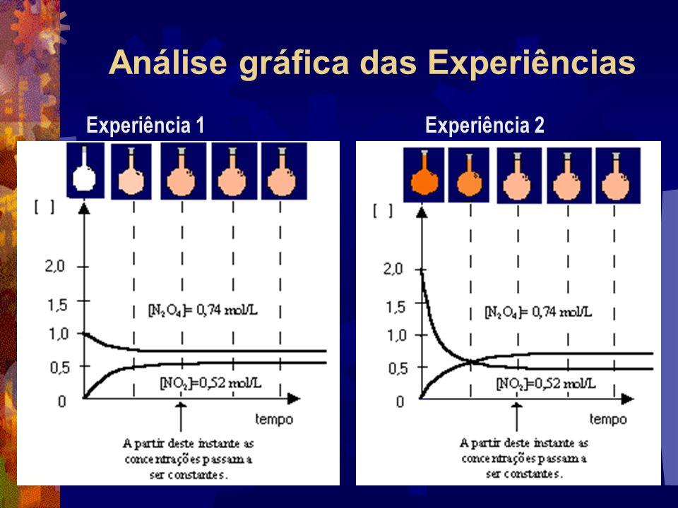 Análise gráfica das Experiências