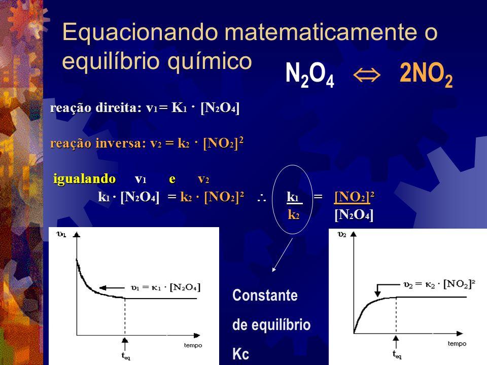 Equacionando matematicamente o equilíbrio químico