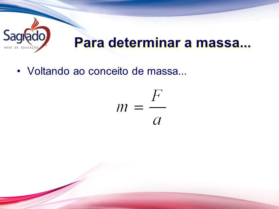 Para determinar a massa...